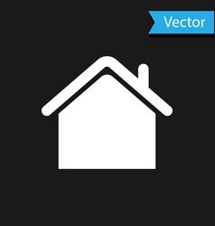 white house icon isolated on black background vector image