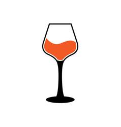 wine glass icon design template vector image