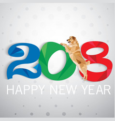 Year of the dog new year card vector
