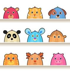 Cartoon animal characters vector