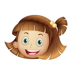 face of a girl vector image