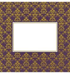 gold frame background vector image vector image