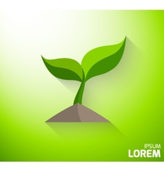 Icon of a green sprout vector image vector image