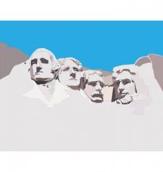 Mount Rushmore national memorial vector image