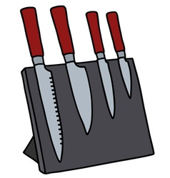 Set of kitchen knives vector image vector image