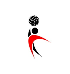 Volleyball-380x400 vector image vector image