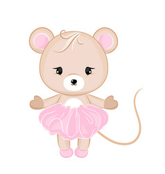 cartoon mouse in dress vector image vector image