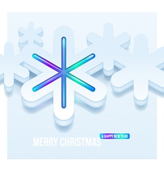 Christmas three-dimensional snowflakes vector image
