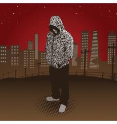 city hoody vector image