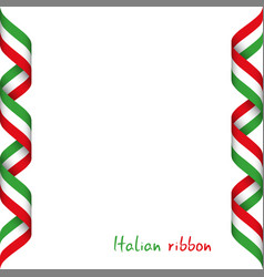 colored ribbon with the italian tricolor vector image