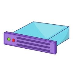 Data storage icon cartoon style vector image vector image