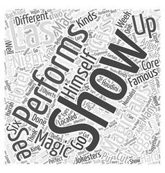 Magicians of Las Vegas Word Cloud Concept vector image vector image