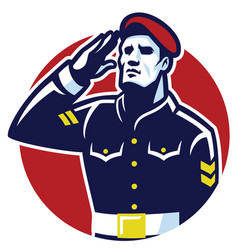 Military soldier salute vector