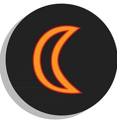 Moon symbol vector image vector image