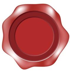 blank wax seal or label vector image vector image