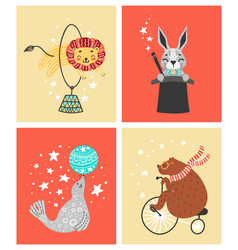 circus animal cute vector image