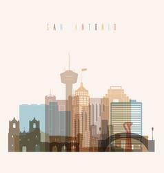 san antonio state texas skyline detailed silhouett vector image