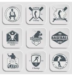 Set of vintage baseball labels and badges vector image