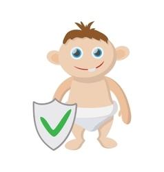 Baby insurance icon cartoon style vector image