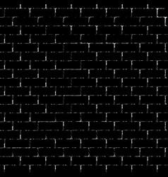 black brick wall silhouette vector image