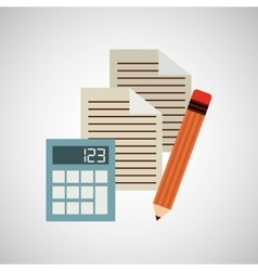 calculator paper pencil vector image