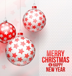 Christmas baubles with stars decor vector image vector image