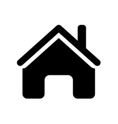 home icon - iconic design vector image