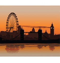 London at sunset vector image