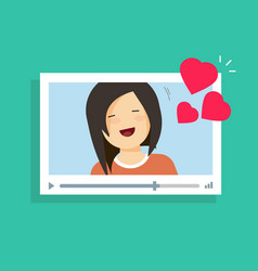 online video communication with girlfriend vector image vector image