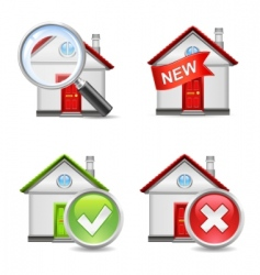 real estate icons set 1 vector image