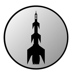 Starting rocket button vector image vector image
