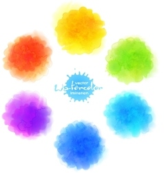 watercolor imitation rainbow paint stains vector image vector image