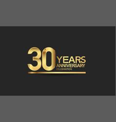 30 years anniversary celebration with elegant vector