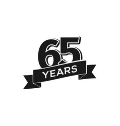 65 years anniversary logotype isolated vector image