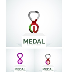 Abstract colorful logo design medal vector image