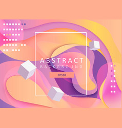 abstract geometric gradient background with cubes vector image