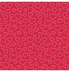 Abstract Hearts Seamless Pattern Doodle Texture vector