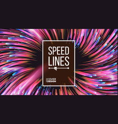 Abstract speed lines dynamic effect vector