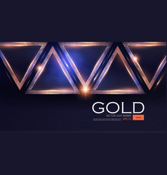 Abstract triangle background with gold glitter vector