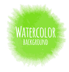 Abstract watercolor background green color vector