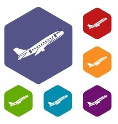 Aircraft icons set vector