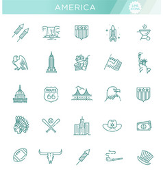 american culture icons culture signs usa vector image