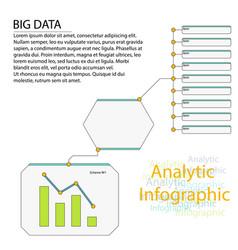 Analytics infographic elements big data vector