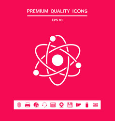 Atom symbol - science icon graphic elements for vector