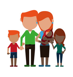 Avatars of family members icon image vector
