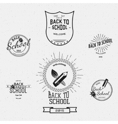 Back to School badges logos and labels for any use vector