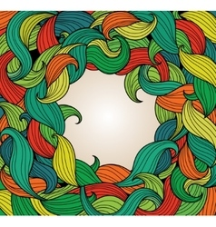 Background with frame of colorful twirls vector