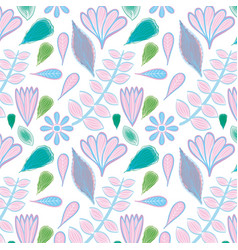 beautiful color floral pattern background vector image