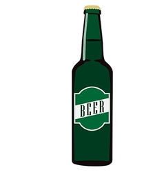 Beer bottle with label vector image