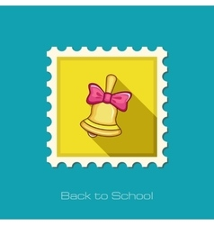 Bell flat stamp vector